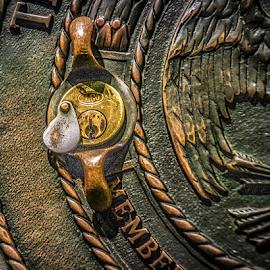 by Myra Brizendine Wilson - Artistic Objects Industrial Objects ( bank lock, bank vault lock, lock )