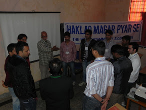 Photo: An activity during the workshop