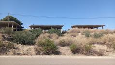 Estado actual de las estructuras que la justicia ordenó demoler al exalcalde de Zurgena Cándido Trabalón.