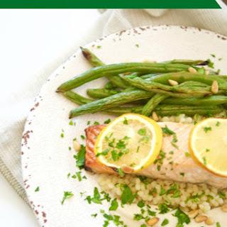 Broiled Salmon With Tahini Sauce