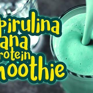 Vegan Protein Spirulina Shake.