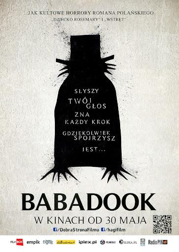 Przód ulotki filmu 'Babadook'