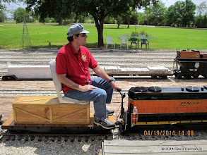 Photo: Engineeer Brian Campopiano with BNSF 2008       HALS Public Run Day 2014-0419 DH3