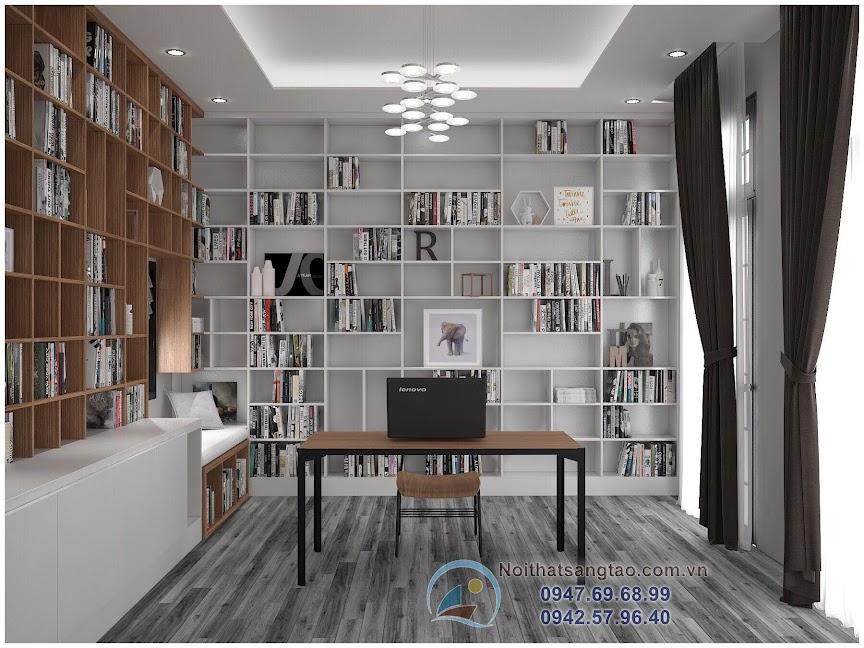 thiết kế phòng đọc sách hiện đại đẹp