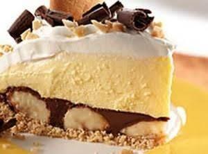 Peanut Butter-Chocolate Bannanna Cream Pie
