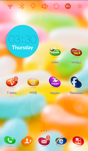 Jelly World Launcher Theme