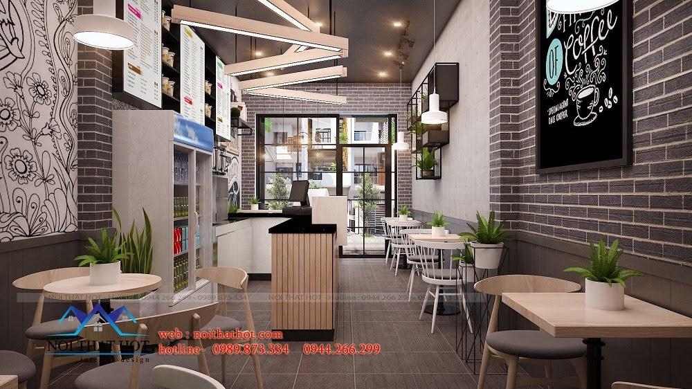 Thiết kế quán trà sữa hiện đại