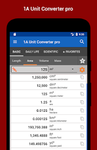 1A Unit Converter pro Screenshot