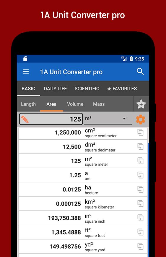 1A Unit Converter pro Screenshot