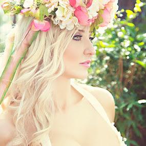 Sweet Soft Flower by Christie Lynn - People Portraits of Women ( model, sweet, sunshine, pretty, flower )