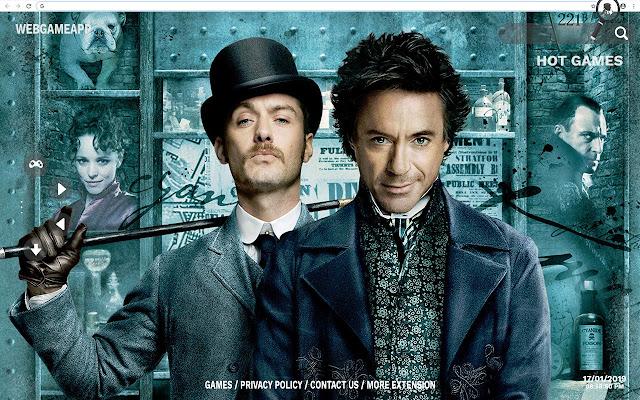 Sherlock Holmes HD Wallpapers New Tab