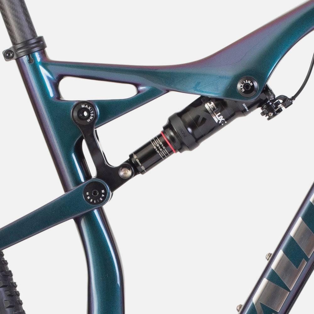Allebike Majestic AXS är utrustad med en progressiv bakdämpare.