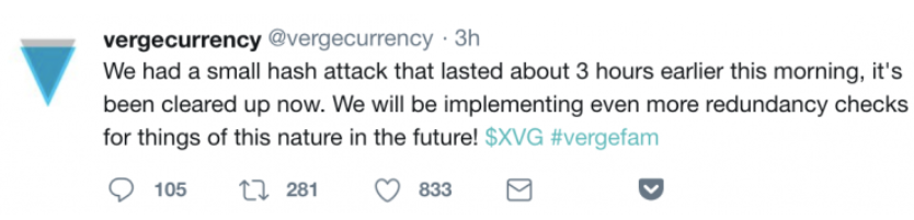 XVG Playing Down the Hack