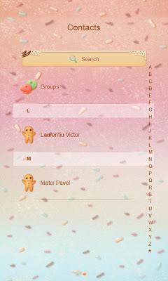 Candy GO SMS - screenshot
