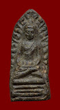 พระรอดมหาวัน เนื้อดิน ลำพูน ปี 2518 ปลุกเสกประเทศอินเดีย ปางมารวิชัย พิมพ์เล็ก สภาพสวย