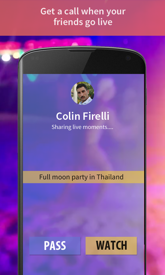 Moments: Live video streaming