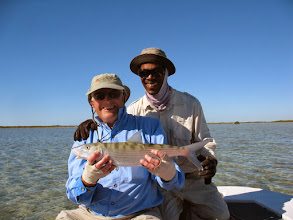 """Photo: Jack Dildine- """"The Big Cheese""""- with his favorite guide Eddie- Fall of 2010 at the Andros Island Bonefish Club"""