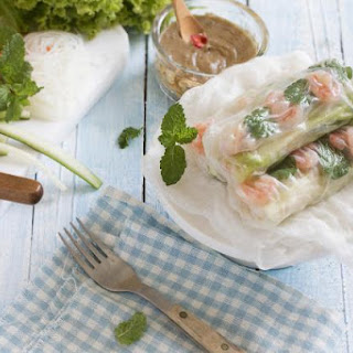 The Lightness of Summer Reflected in a Chicken and Prawn Roll