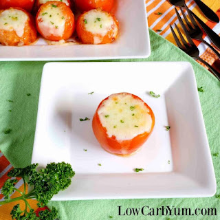 Stuffed Tomatoes with Meat and Cheese.