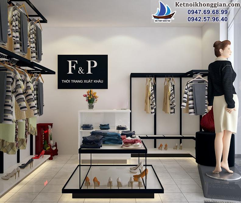 thiết kế shop thời trang tiết kiệm không gian