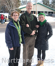 Photo: St. Patrick's Day Parade judges Debby Floerchinger, Joe Kraemer and Candy Hart - photo by Paul Boblett