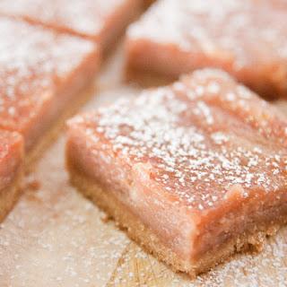 Tarty Rhubarb Slice.