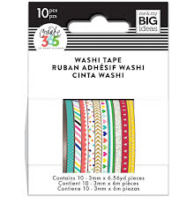 Me & My Big Ideas Happy Planner Skinny Washi Tape - Brights