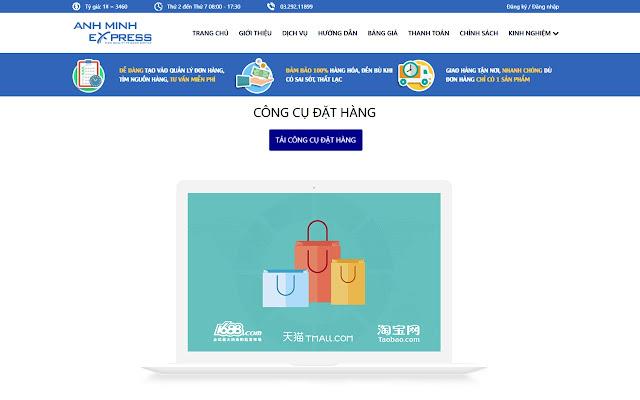 Tiện ích đặt hàng Anh Minh Express