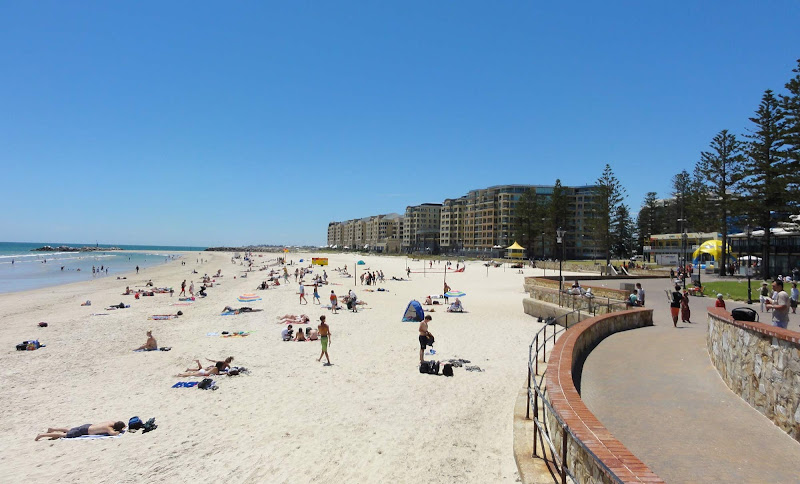 Glenelg Beach, outside of Adelaide, makes for a great day trip for cruise visitors.