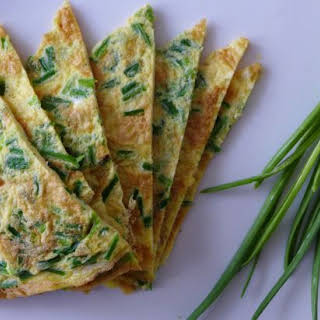 Omelette With Homegrown Garlic Sprouts.