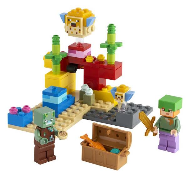 Contenido de Lego® 21164 El Arrecife de Coral