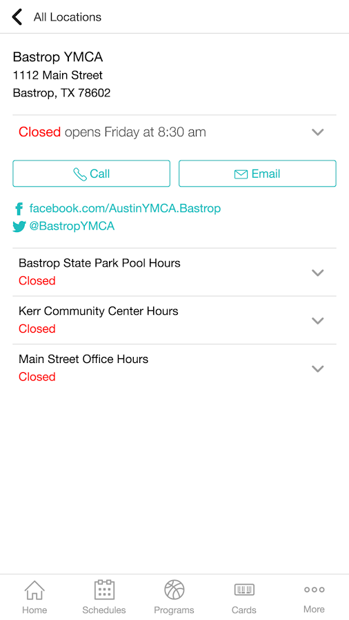 YMCA of Austin- screenshot