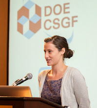 Photo: The Krell Institute DOE CSGF project presentation and award ceremony at the Marriott Crystal Gateway in Arlington, VA on July 26, 2012.