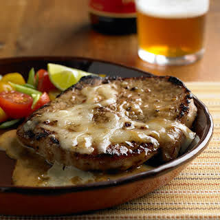 Fast and Easy Garlic and Lime Butterfly Pork Chops.