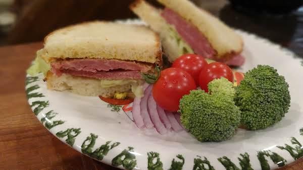 A Corned Beef Sandwich Made With Artisan Dutch Oven Sandwich Bread
