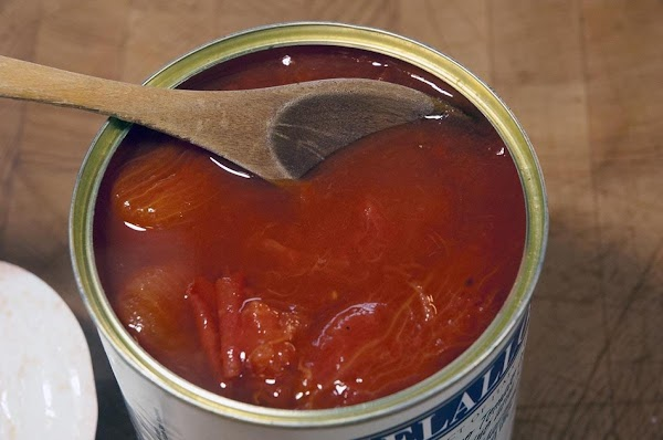 Let's get started.Open a can of tomatoes and give it a taste.