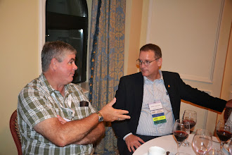 Photo: Don Weekes and ASHRAE Society President William (Bill) Bahnfleth