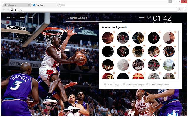 f38dabf28fd Michael Jordan Wallpaper HD New Tab NBA Theme