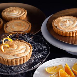 Meyer Lemon & Blood Orange Meringue Topped Tartlets