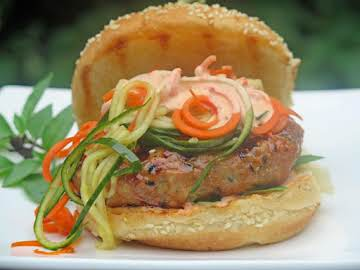 Plum-Crazy Black Sesame Seed Burgers