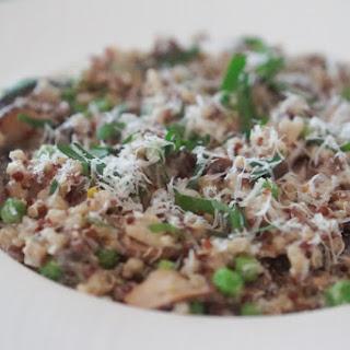 Sneaky Low-Fat Mushroom Quinoa Risotto (Quinotto).