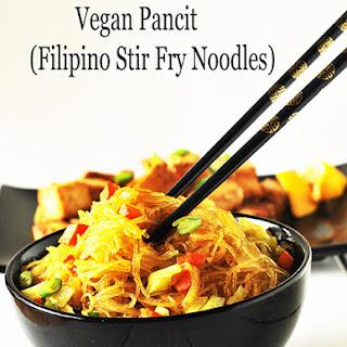 Pancit Bihon (Filipino Noodle,Gluten Free,Vegan)