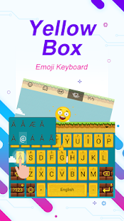 Yellow Box Theme&Emoji Keyboard - náhled