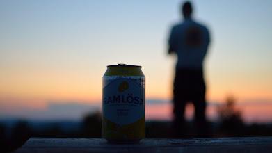 Photo: Ramlösa. My new Swedish friend in the tropical weather.