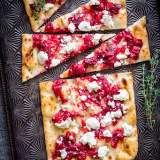 Roasted Cranberry And Goat Cheese Flatbreads