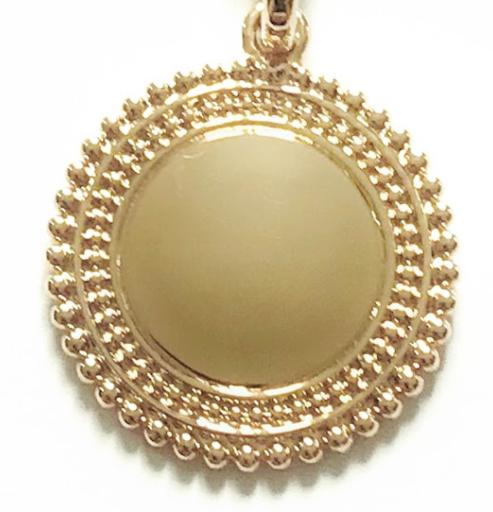 Collier médaille double perlée