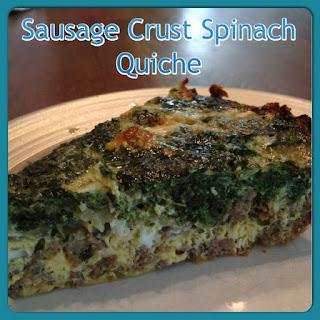 Sausage Crust Spinach Quiche.