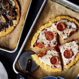 Cauliflower Pizza Crust {Gluten-free, Dairy-free, Paleo}.