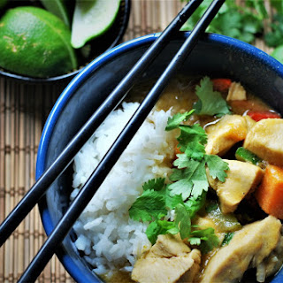 Thai Green Curry Chicken and Sweet Potatoes.