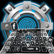 Supreme Gray Fingerprint Style Keyboard Theme